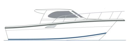 Profile Drawing of 28' Pilothouse