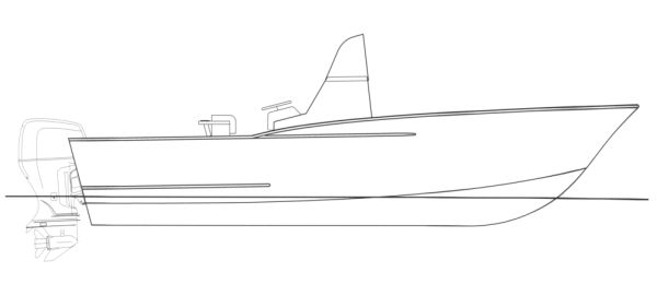 Kitty Hawk 23 Profile Drawing
