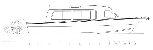 Profile Drawing of the 32' Expedition Cruiser